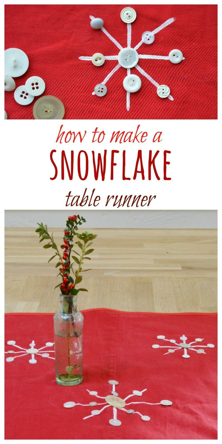 Fancy a new table runner this Christmas? Why not make your on with old trousers, fabric paint and buttons. Click through to the blog for tutorial