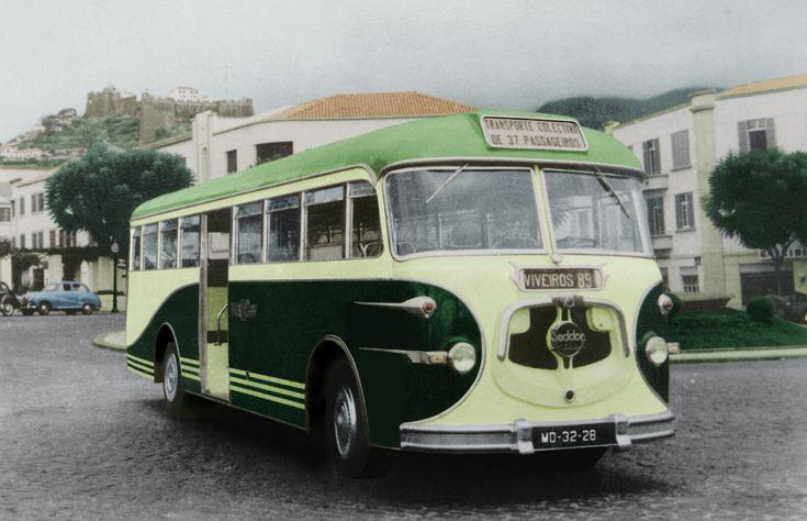 16 fotografias antigas dos autocarros da Sociedade de Automóveis da Madeira (SAM)