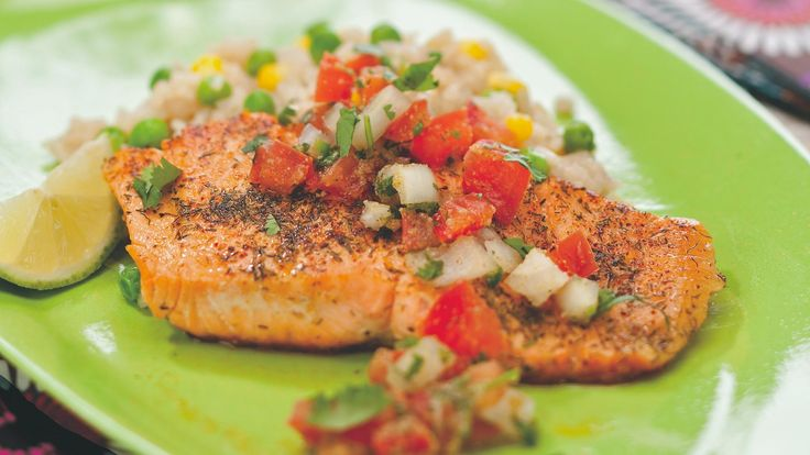 A quick, fresh salsa served on tequila-doused brookie fillets is the perfect hot-weather meal