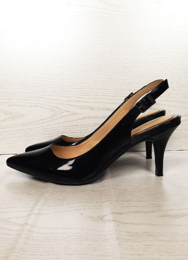 #office #chic #elegant #slingback #slingpumps #lack #calvin #klein #ck #black #simple #sleek #glanz #fashion #style #schuhe #pumps #heels #highheels #shopping #outfit #accessories #shoes