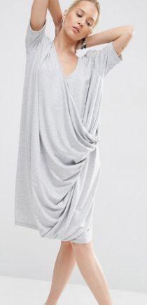 ASOS WHITE V-Neck Dress With Drape Detail  | TrufflesandTrends.com