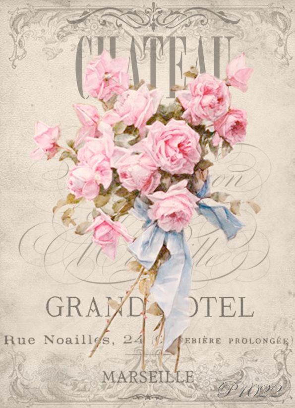 Vintage roses Chateau Digital collage p1022 Free for personal use only <3