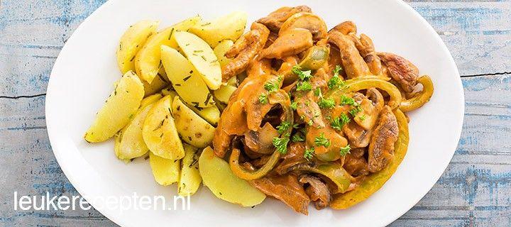 Makkelijk herfstrecept voor beef stroganoff met malse runderreepjes, shiitake en paprika