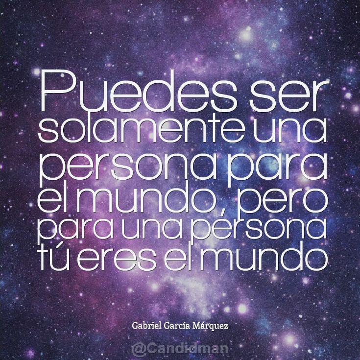 Puedes ser solamente una persona para el mundo pero para for Sillon para una persona