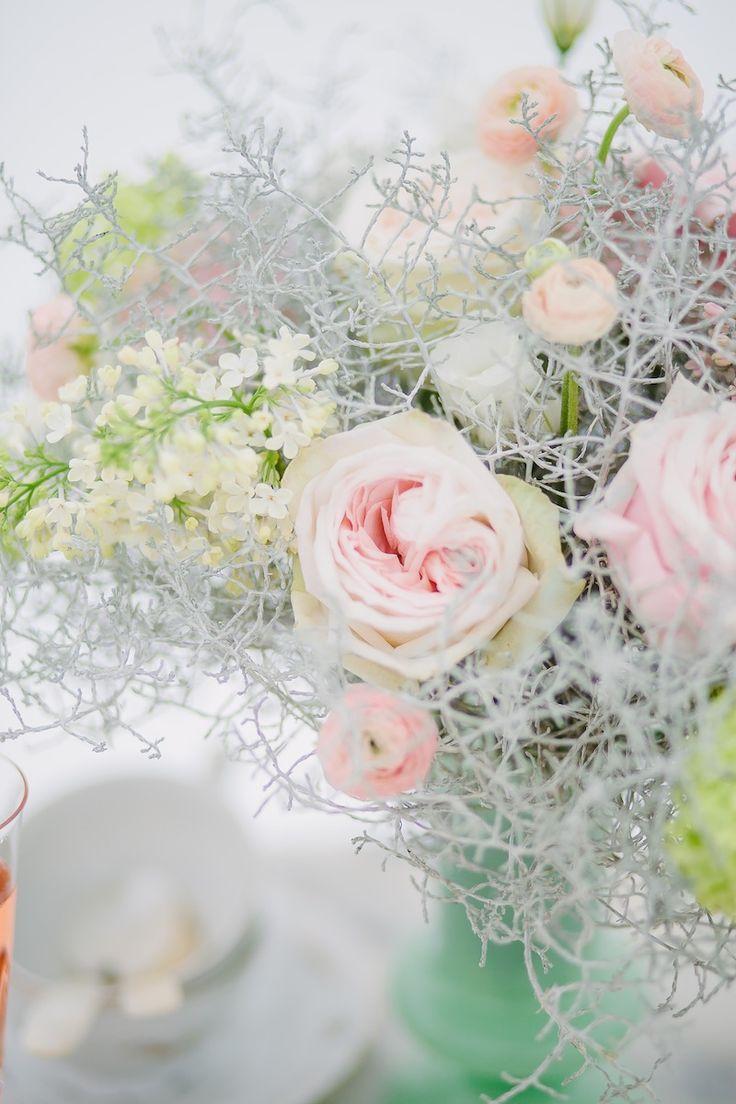 Winter Beach Wedding Inspiration Flowers