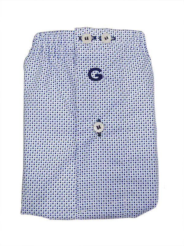 #Boxer #Gulio Tela Tain - Ref: 3148 80 -  Nuevo diseño en topitos azules sobre fondo blanco. Cinturilla elástica, logo bordado en la parte frontal y petrina cerrada por un botón.  #calzoncillos #hombre #modahombre #moda #ropainterior http://www.varelaintimo.com/marca/10/giulio