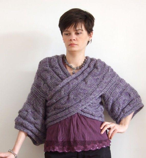 Casual  couture kimono greylavender crisscross AVANT by couvert, $115.00