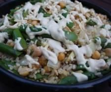 Asparagus, Chickpea and Brown Rice Salad with Tahini dressing | Official Thermomix Recipe Community