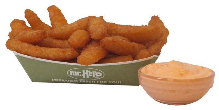 Mr Hero's Onion Petals! Curved onion petals deep fried to perfection! Served with a side of our own tangy sauce!
