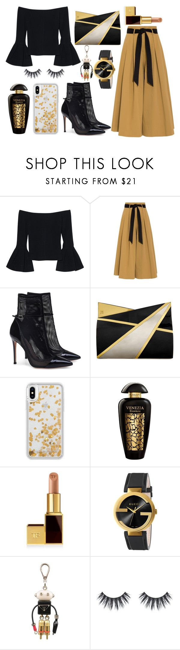 """""""Untitled #20"""" by leamehaj ❤ liked on Polyvore featuring Alexis, Temperley London, Jill Haber, Rebecca Minkoff, The Merchant Of Venice, Tom Ford, Gucci and Prada"""
