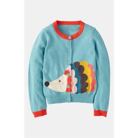 Cutest little girls' cardigan EVER!!! #aff: Cardigans, Little Girls, Mini Boden, Kids Clothes, Fun Cardigan, Hedgehog Cardigan, Boden Hedgehog, Boden Fun
