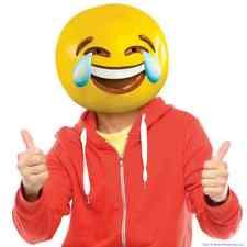 Tears of Joy Emoji Smiley Smile Face Mask Latex Halloween Costume Party BigMouth