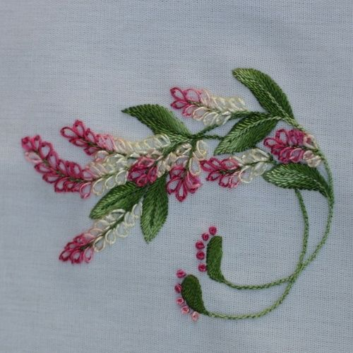 Lovely Embroidery via Purrfect Stitchers