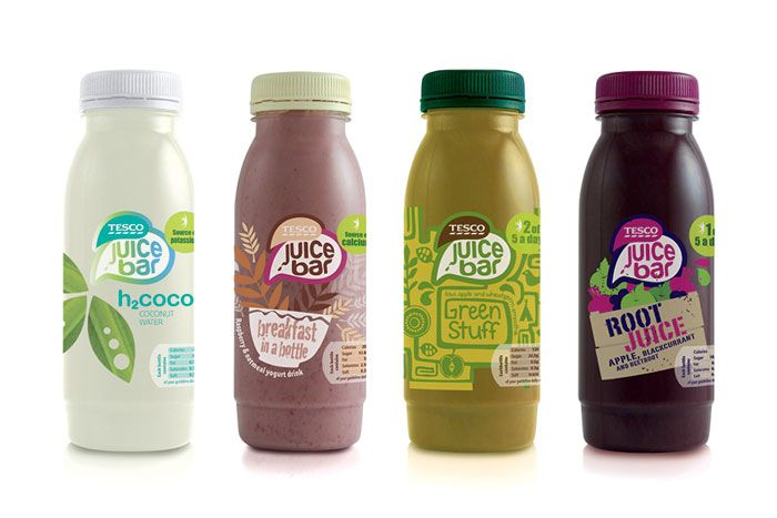 Packaging of the World: Creative Package Design Archive and Gallery: Tesco Juice Bar