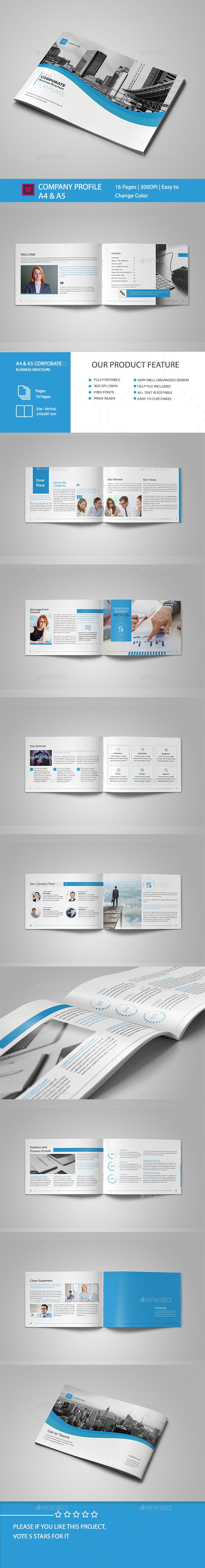 Clean Business BrochureProfessional, clean and modern 16 pages corporate busines...