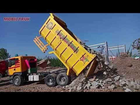 Proses Loading Mobil Truk Tronton Muat Batu Split Youtube Di 2021 Truk Mobil Hiburan