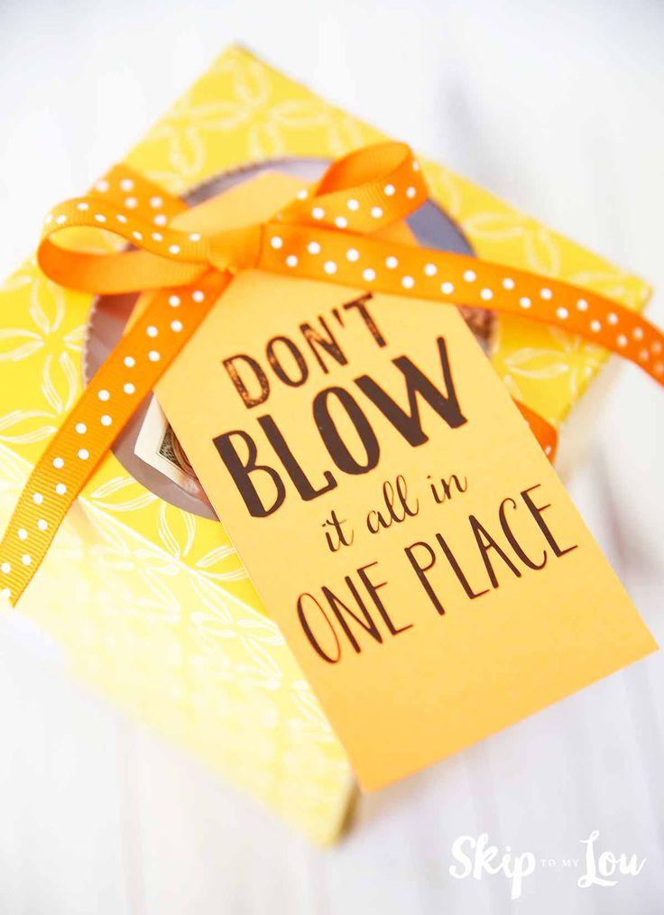 Creative Ways To Give Money | Skip to my Lou Free printables | Gift tags printable, Birthday ...