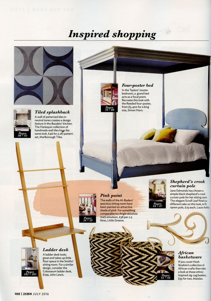Create a focal point with our stunning Reeded four-poster http://simonhorn.com/ 25 Beautiful Homes July 2016