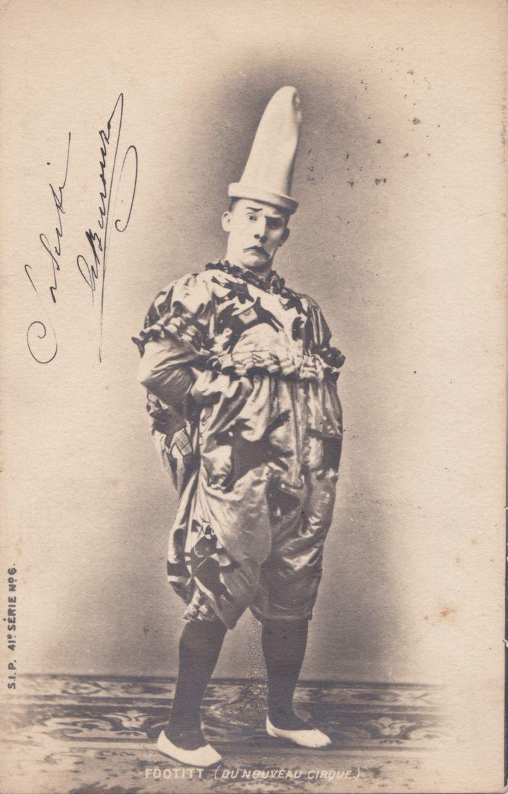 English clown Footitt, real name Tudor Hall (Manchester  1864, Paris1921).