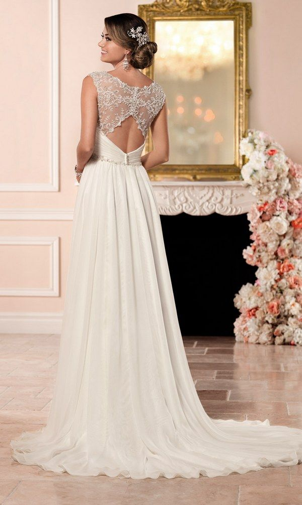 Stella York Romantic Wedding Dress with Keyhole Back style 6348 b / http://www.deerpearlflowers.com/stella-york-fall-2016-wedding-dresses/2/