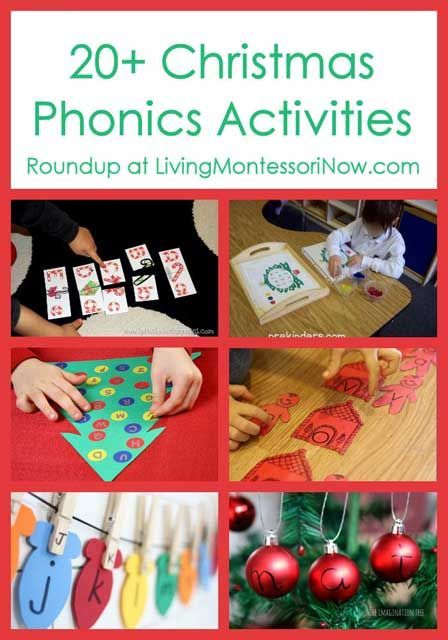 20+ Christmas Phonics Activities - Includes Montessori phonics ideas; part of a HUGE collaboration of Kid Blogger Network Christmas roundups