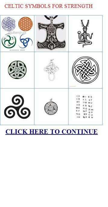 Irish Celtic Symbols For Strength