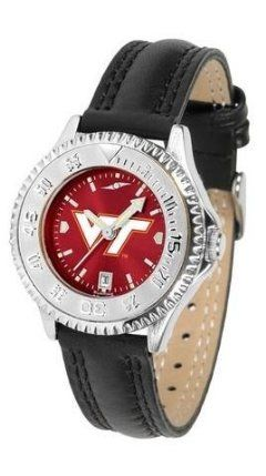 Virginia Tech Hokies Ladies Leather Wristwatch by SunTime. $78.95. Adjustable Band. Officially Licensed Virginia Tech Hokies Ladies Leather Wristwatch. Women. Poly/Leather Band. Water Resistant. Virginia Tech Hokies Ladies Leather Wristwatch with AnoChrome face. The Hokies wrist watch has functional rotating bezel color-coordinated with team logo. A durable, long-lasting combination nylon/leather strap, together with a date calendar make this the ultimate watch to have. Th...