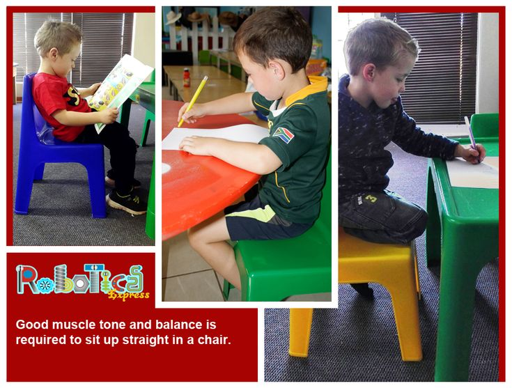 Strong muscles and good balance in essential for a child to sit up straight at his desk and for concentration.  Visit my website at www.roboticsprogram.co.za
