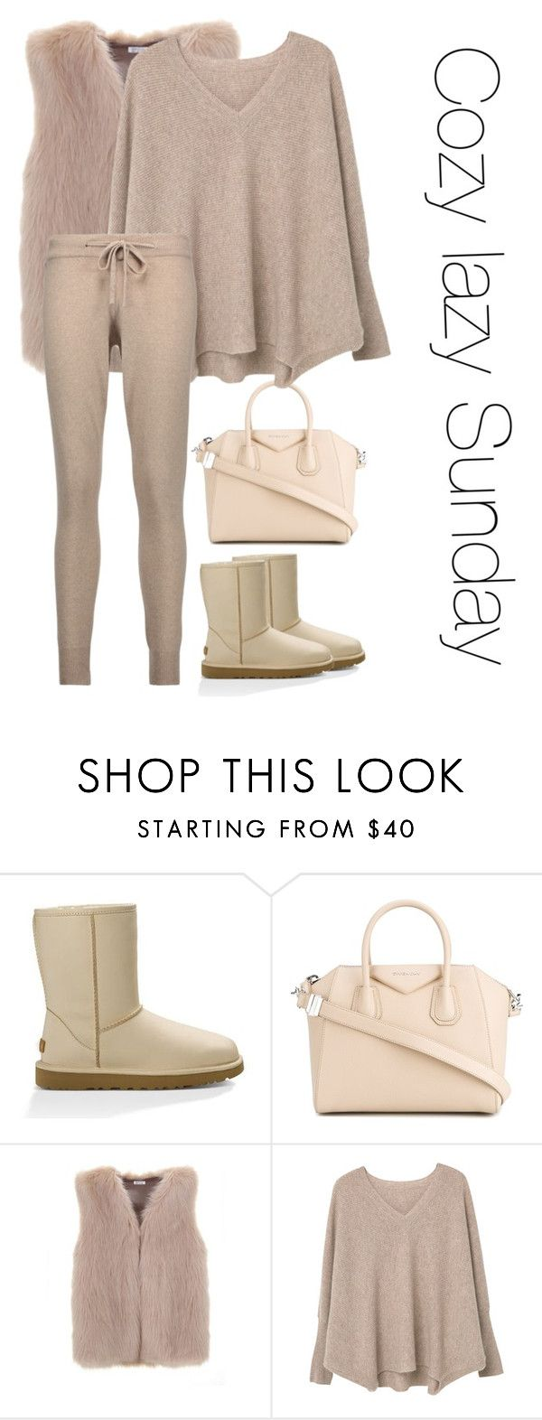 """""""Cozy Sunday"""" by pana-canaj on Polyvore featuring moda, UGG, Givenchy, MANGO e Chinti and Parker"""