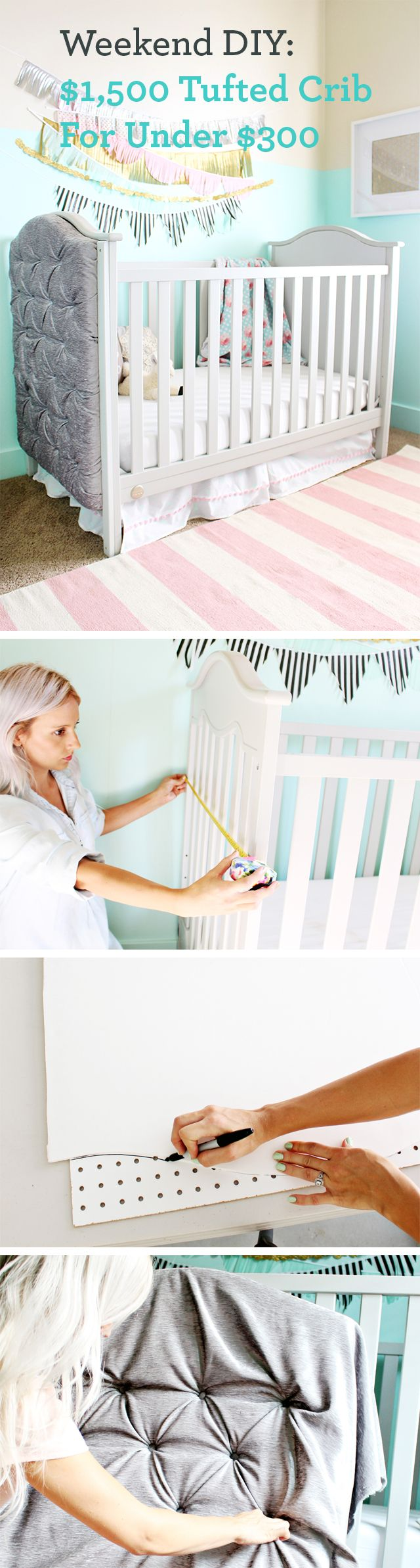 Baby crib gertie - Make A 1 500 Tufted Crib For 300
