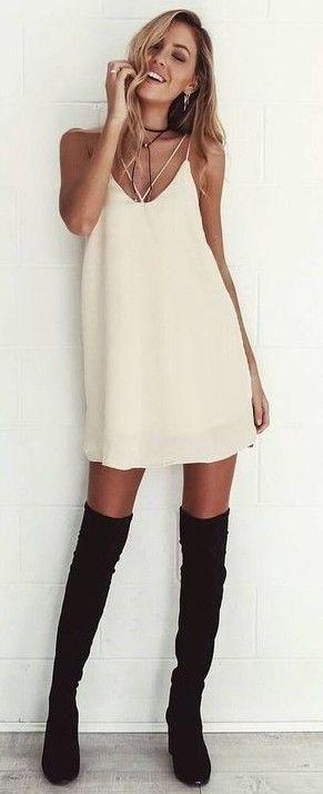 Neutral Slip Dress                                                                             Source