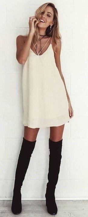 Neutral Slip Dress                                                                             Source
