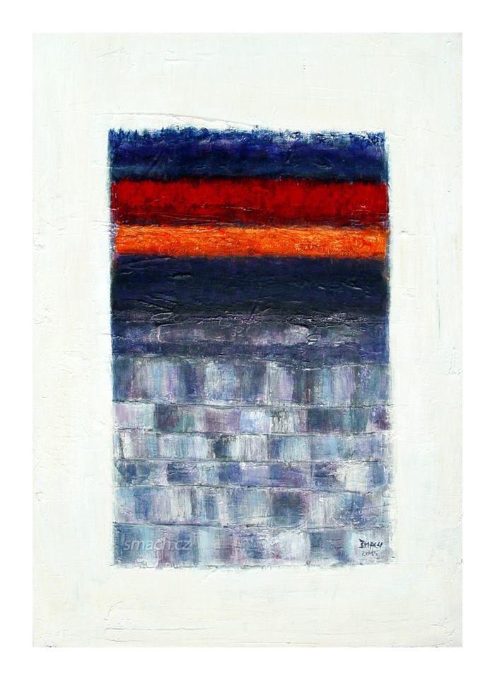 """Radek Šmach: """"Composition RL891"""", 2015 Acrylic on canvas 70 x 50 cm"""