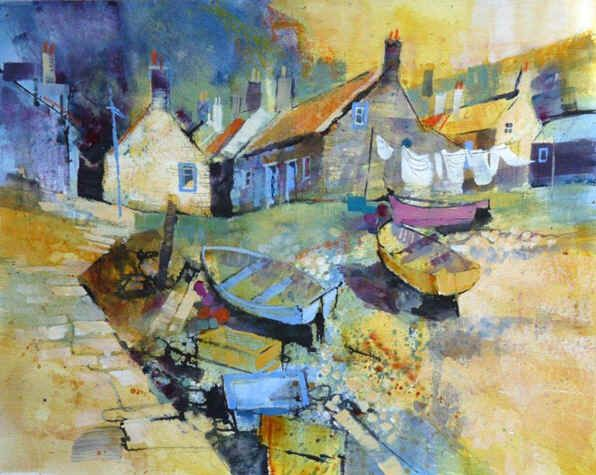 chris_forsey_-_washing_and_conversation_Sandend_16x13ins