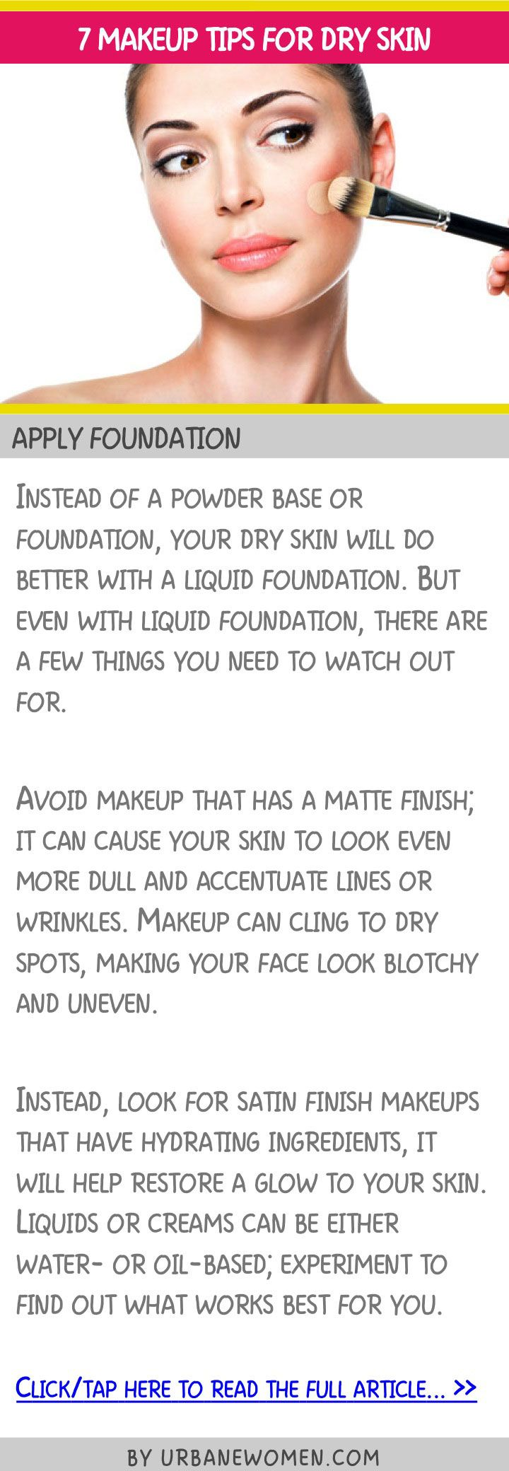 7 makeup tips for dry skin - Apply foundation