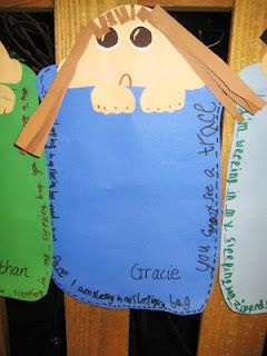 Sleeping Bag Craft  {Use with sleeping bag poem}: