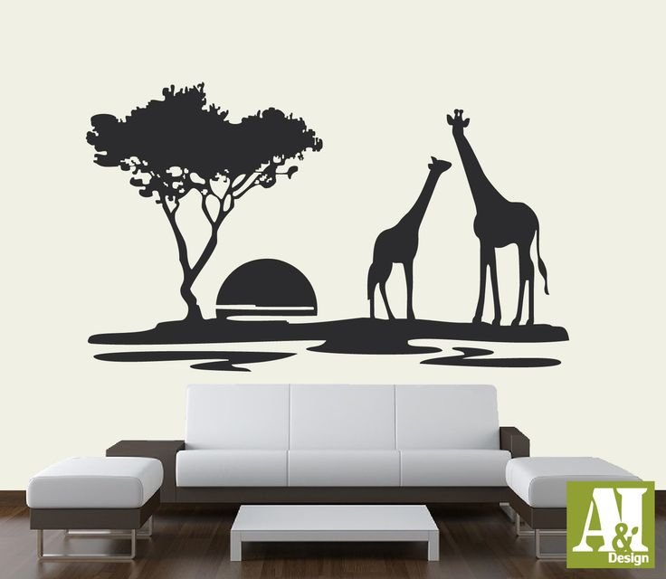 Best African Decor Images On Pinterest Africans Wood - Wall decals animalsafrican savannah wall sticker decoration great trees with