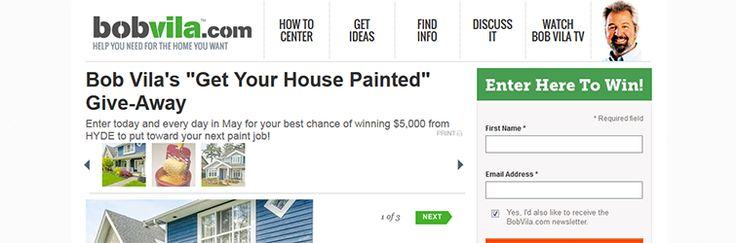 Bob Vila's HYDE Get Your House Painted Giveaway