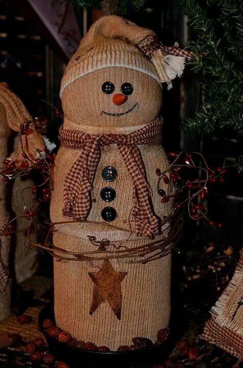 Snowman | Primitive crafts | Pinterest