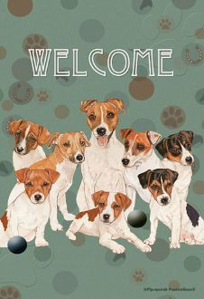 We ♥ all of our Jack Russell Terrier garden flags. This is one of our most popular!     www.jackrussellemporium.com