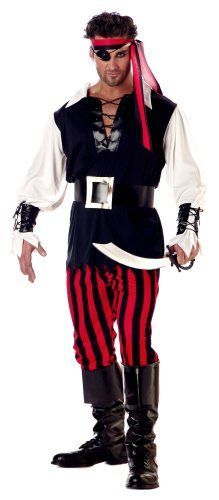 California Costumes Men's Adult Cutthroat Pirate Costume