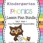 Kindergarten Phonics Lesson Plans Unit 4 Week 1 by Teach to Inspire includes a full week of Fundations® lesson plans with:  *Learning outcomes for ...