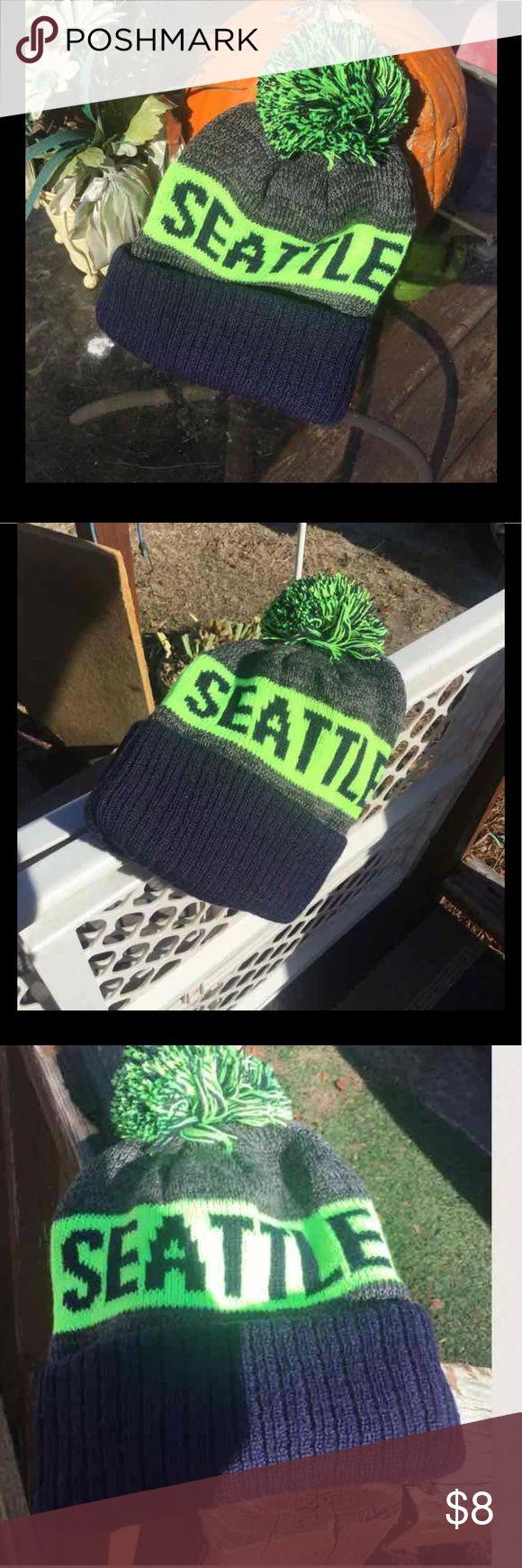 Seahawks Team Beanie Brand New Team Beanie ,Seahawks neon green and black Accessories Hats