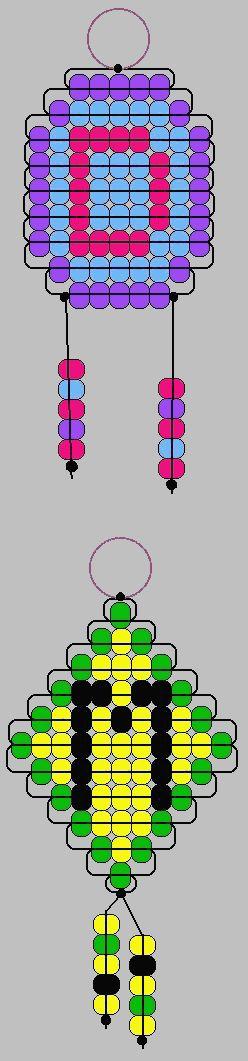 Initial Keychains pony beads pattern