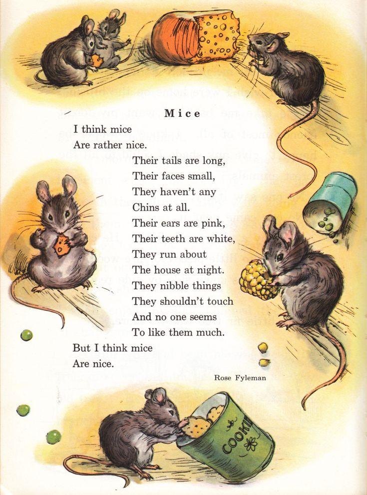 mice poetry   Mice poem by Rose Fyleman