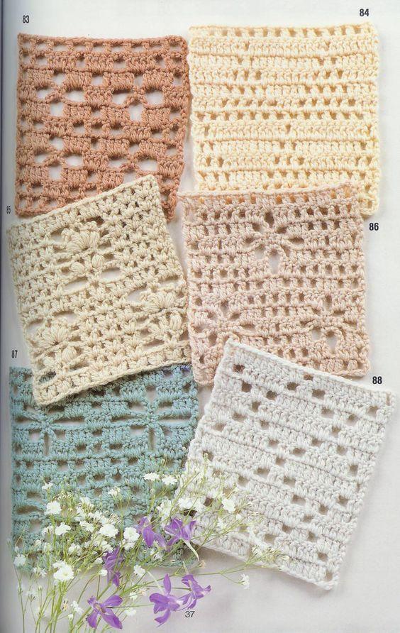 77 best Crochet square patterns images on Pinterest | Knit crochet ...
