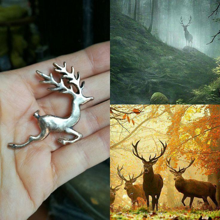 Deer bronze pendant....