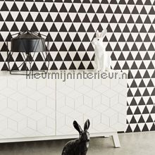 Driehoekjes behang zwart wit 356011 Grafisch - Abstract Eijffinger