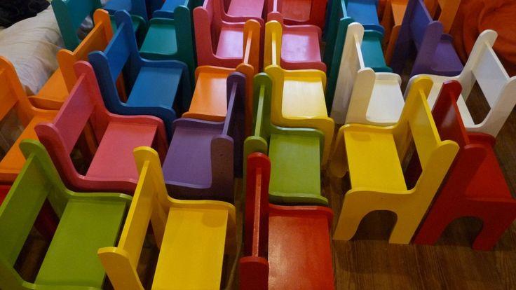 sillas infantiles ,niños,jardín,peloteros,country,escolares