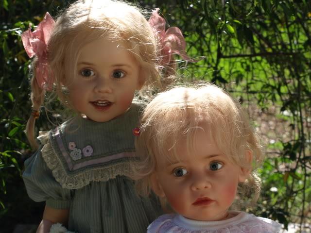 Sissel Skille OOAK polymer Dolls - Eline & Elise